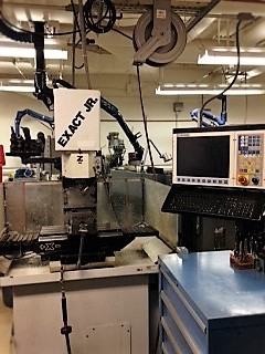 An Exact Jt. CNC mill in the machine lab