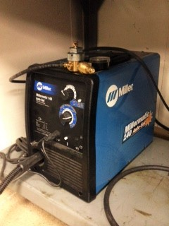 TIG/MIG welder in machine shop
