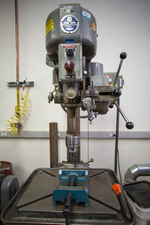 Drill Press in machine shop