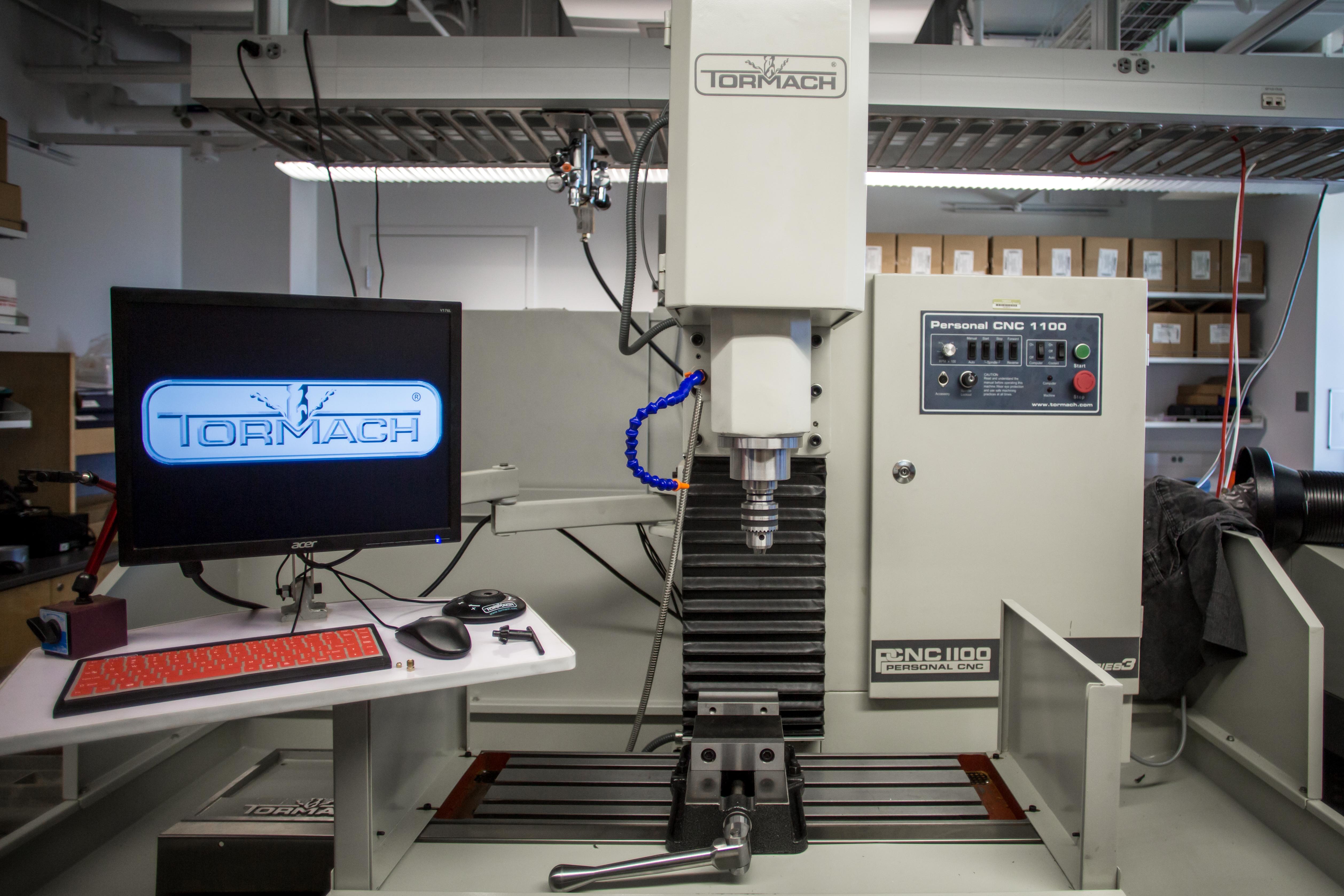 Tormach CNC Mill in the machine shop